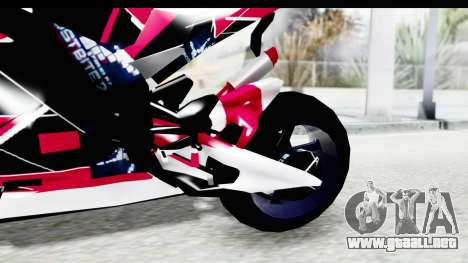 Dark Smaga Motorcycle with Frostbite 2 Logos para visión interna GTA San Andreas
