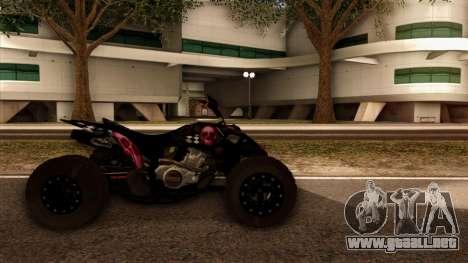 Quad Graphics Skull para GTA San Andreas vista posterior izquierda