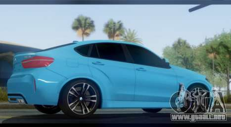 BMW X6M F86 para GTA San Andreas left