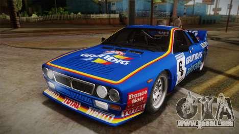 Lancia Rally 037 Stradale (SE037) 1982 IVF Dirt3 para la visión correcta GTA San Andreas