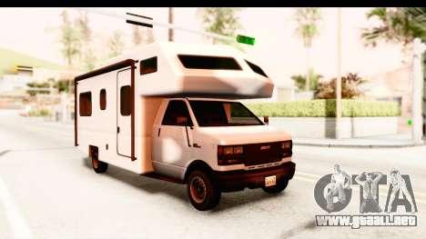 GTA 5 Camper para GTA San Andreas vista posterior izquierda