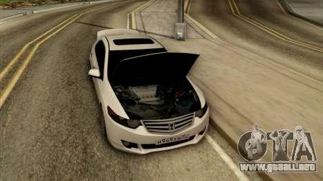 Honda Accord para GTA San Andreas vista hacia atrás