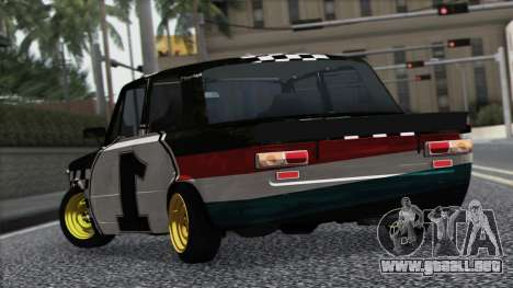VAZ 2101 es un Coche de Carreras para GTA San Andreas vista hacia atrás