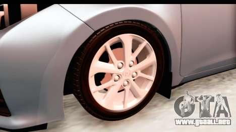 Toyota Corolla 2014 IVF para GTA San Andreas vista hacia atrás