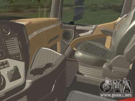 Mercedes-Benz Actros Mp4 6x4 v2.0 Steamspace para GTA San Andreas vista hacia atrás