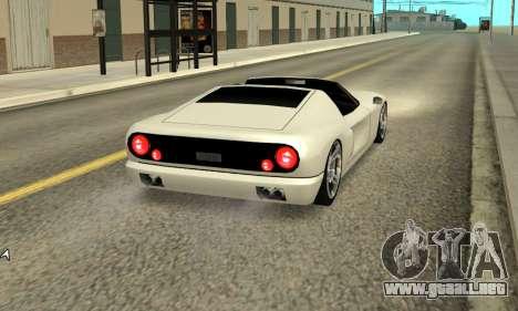 Bullet Spyder para GTA San Andreas vista posterior izquierda