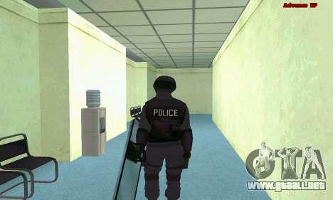 La piel de SWAT GTA 5 (PS3) para GTA San Andreas sucesivamente de pantalla