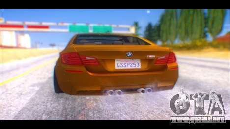 BMW M5 F10 2014 para GTA San Andreas left