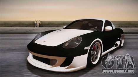 Ruf RK Coupe (987) 2007 HQLM para la visión correcta GTA San Andreas