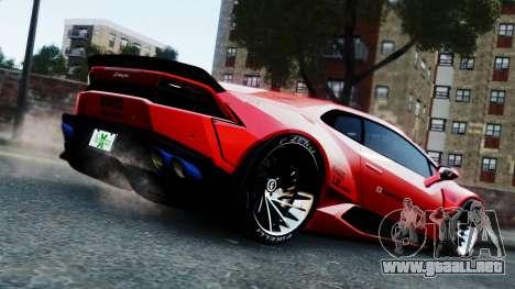 Lamborghini Huracan LB para GTA 4 left