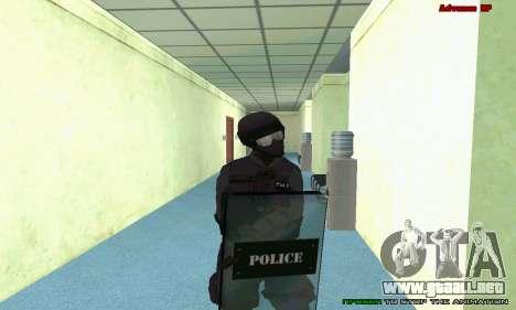 La piel de SWAT GTA 5 (PS3) para GTA San Andreas novena de pantalla