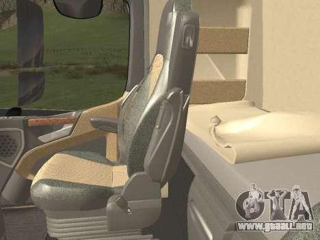 Mercedes-Benz Actros Mp4 v2.0 Tandem Steam para el motor de GTA San Andreas