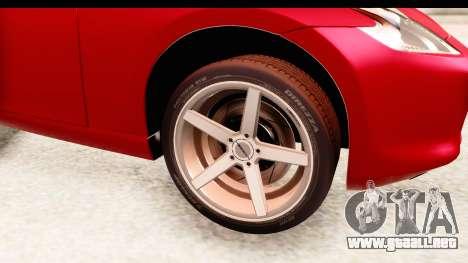 Nissan 370Z 2010 para GTA San Andreas vista hacia atrás