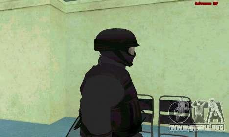 La piel de SWAT GTA 5 (PS3) para GTA San Andreas quinta pantalla