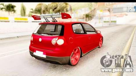Volkswagen Golf GTI para GTA San Andreas left