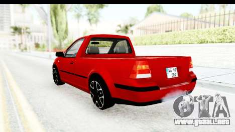 Volkswagen Golf Mk4 Pickup para GTA San Andreas left