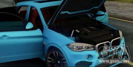 BMW X6M F86 para visión interna GTA San Andreas