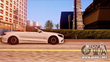 Mercedes-Benz S63 para GTA San Andreas left