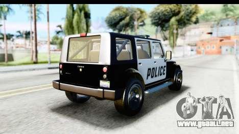 Canis Mesa Police para GTA San Andreas left