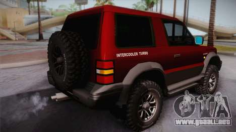 Mitsubishi Pajero 3-Door para GTA San Andreas left