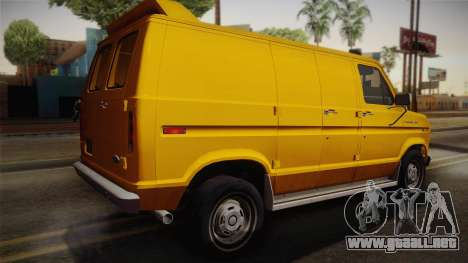 Ford E-150 Commercial Van 1982 2.0 IVF para GTA San Andreas left