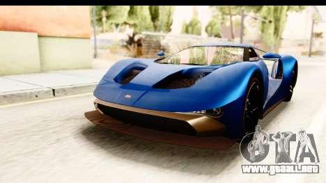 GTA 5 Vapid FMJ SA Style para GTA San Andreas vista posterior izquierda