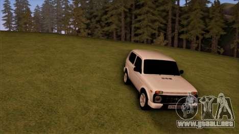 VAZ 2121 para GTA San Andreas vista hacia atrás