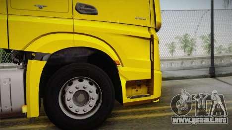 Mercedes-Benz Actros Mp4 4x2 v2.0 Gigaspace v2 para la visión correcta GTA San Andreas