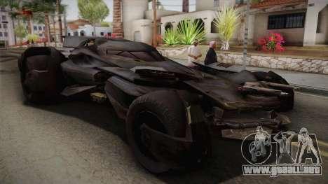 Batman VS Superman Batmobile para GTA San Andreas