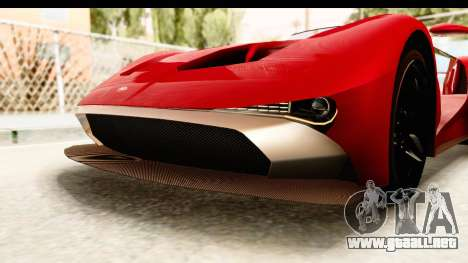 GTA 5 Vapid FMJ IVF para GTA San Andreas interior
