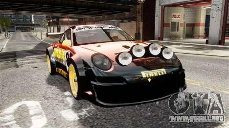 Porsche Rallye Vespas 911 GT3 RSR para GTA 4 visión correcta