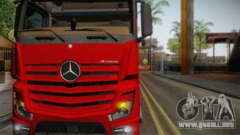 Mercedes-Benz Actros Mp4 6x4 v2.0 Bigspace para GTA San Andreas vista posterior izquierda