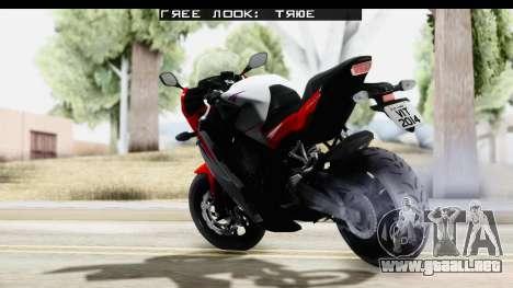 Honda CBR650F para GTA San Andreas left