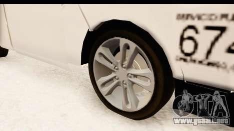 Nissan NV350 Urvan Comercial Mexicana para GTA San Andreas vista hacia atrás