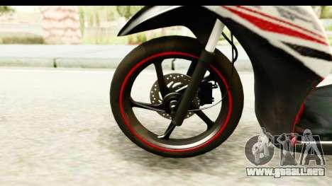 Yamaha Mio GT Standart para GTA San Andreas vista hacia atrás