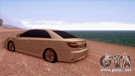 Toyota Camry 2016 para GTA San Andreas vista posterior izquierda