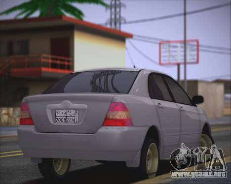 Toyota Corolla 120 para GTA San Andreas left