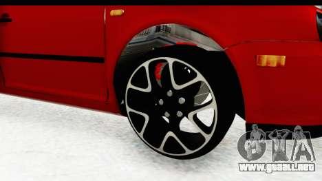 Volkswagen Golf Mk4 Pickup para GTA San Andreas vista hacia atrás
