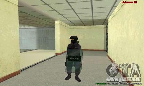 La piel de SWAT GTA 5 para GTA San Andreas octavo de pantalla