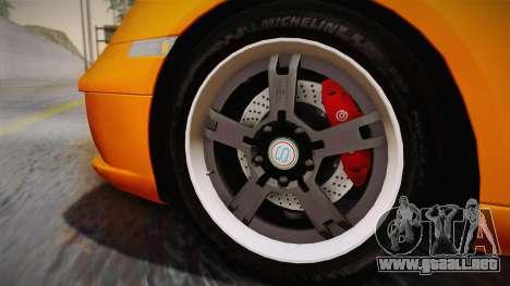 Ruf RK Coupe (987) 2007 IVF para GTA San Andreas vista posterior izquierda