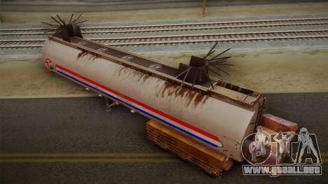 Mack R600 v2 Trailer para GTA San Andreas vista posterior izquierda