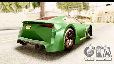 GTA 5 Emperor ETR1 para GTA San Andreas left