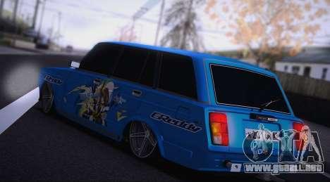 VAZ 2104 Anime para GTA San Andreas vista posterior izquierda