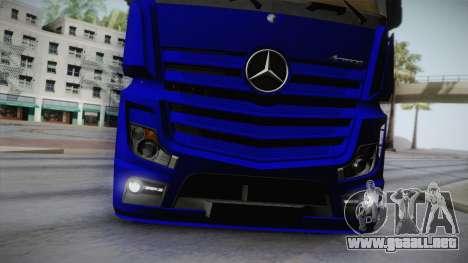 Mercedes-Benz Actros Mp4 v2.0 Tandem Steam para vista lateral GTA San Andreas