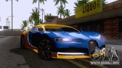Bugatti Chiron 2017 v2.5 para la visión correcta GTA San Andreas