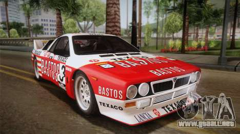 Lancia Rally 037 Stradale (SE037) 1982 Dirt PJ2 para GTA San Andreas left