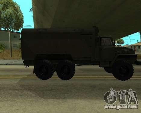 Ural 4320 Armenian para GTA San Andreas vista hacia atrás