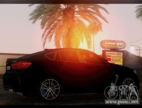 BMW X6M BULKIN SAMP EDITION para GTA San Andreas vista posterior izquierda