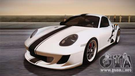 Ruf RK Coupe (987) 2007 IVF para vista inferior GTA San Andreas