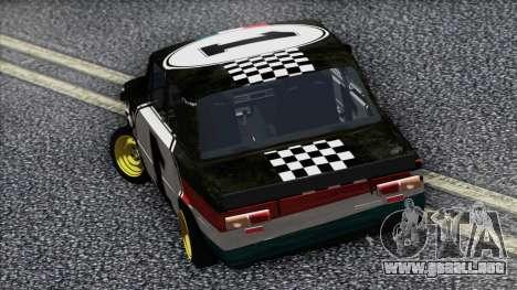 VAZ 2101 es un Coche de Carreras para GTA San Andreas vista posterior izquierda